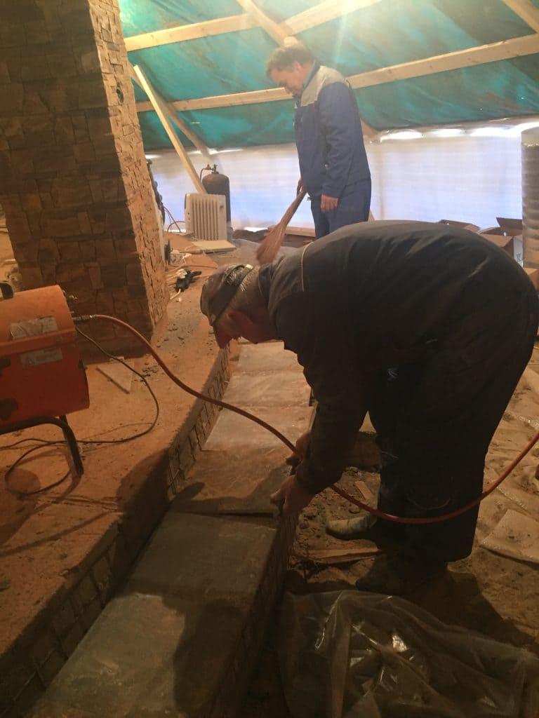 Строительство бани в Европейской Долине